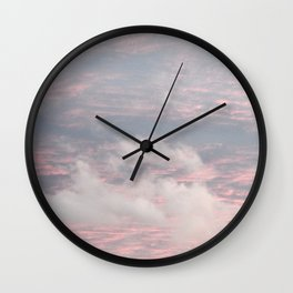 Cloud layers of Pink Wall Clock