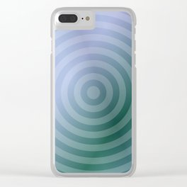 Teal Circles Clear iPhone Case
