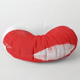 Polish Distressed Halftone Denim Flag Floor Pillow