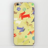 dogs iPhone & iPod Skins featuring Dogs by Amy Schimler-Safford