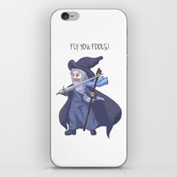 lotr iPhone & iPod Skins featuring Gandalf Chibi LOTR Hobbit  by ParallelPenguins