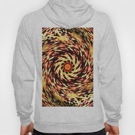 Red Black Yellow Kaleidoscopic Ball Circle Hoody