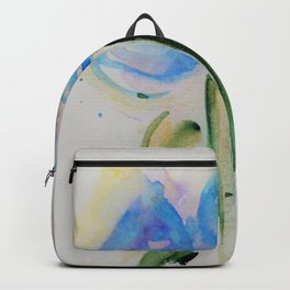 abstackt blue flowers Backpack