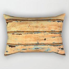 Orange Planks, Wood Texture Decor Rectangular Pillow