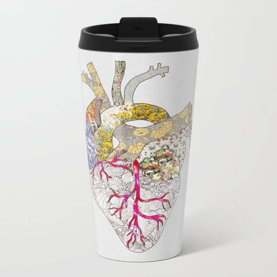 my heart is real Metal Travel Mug