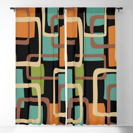 Mid Century Modern Overlapping Squares Pattern 131 Blackout Curtain