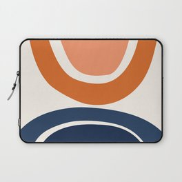 Abstract Shapes 7 in Burnt Orange and Navy Blue Laptop Sleeve