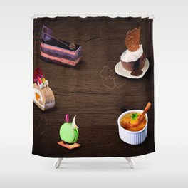 Traditional Japanese chocolate cake Shower Curtain