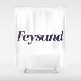 Feysand galaxy design white Shower Curtain