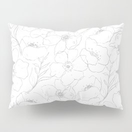 Floral Simplicity - Gray Pillow Sham