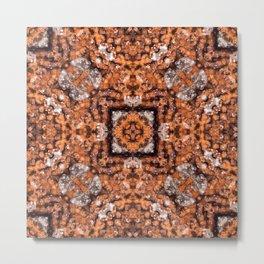 Goethite Druzy Quartz with a geometric kaleidoscopic design Metal Print