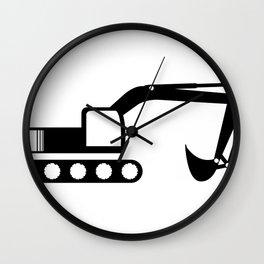 excavator Wall Clock