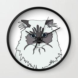Theodore the Himalayan cat Wall Clock
