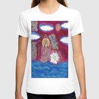 budi satria kwan T-shirts featuring Offerings-Kwan Yin by J. Lashua Art