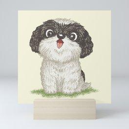 Shih Tzu happy Mini Art Print