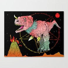 Necro-Dino From Planet Hell Canvas Print
