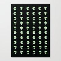 aliens Canvas Prints featuring Aliens  by gracekansai