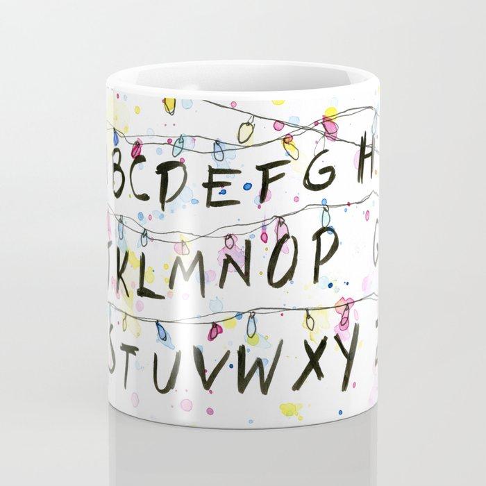 Alphabet Wall Christmas Lights Coffee Mug