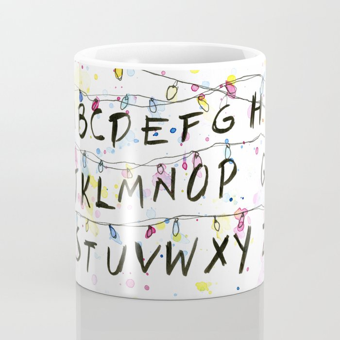 Alphabet Wall Christmas Lights Coffee Mug