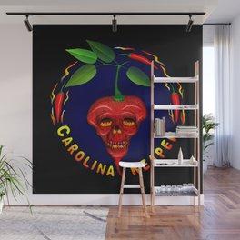 Carolina Reaper Skull Wall Mural