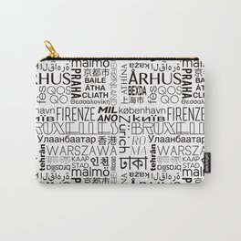 Text and the City - Black + White Carry-All Pouch