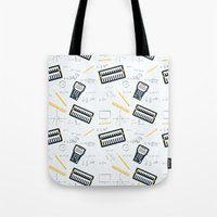 math Tote Bags featuring Math by S. Vaeth