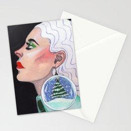 Snow Globe Stationery Cards