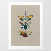 insects Art Prints featuring insects by Julia Tyroller
