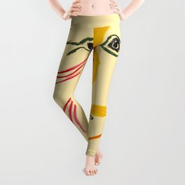 Hommage A Rene Char Vintage Picasso Exhibit Poster Print Leggings