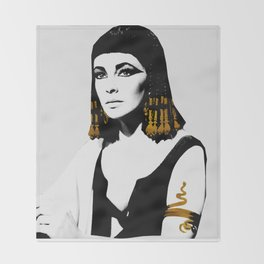 black & gold Cleo Throw Blanket
