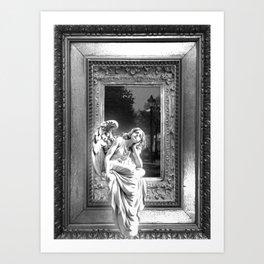 Angel of Bristol (BW) Art Print