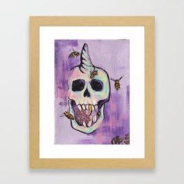 Skull&Bees Framed Art Print