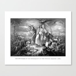 The Outbreak Of Rebellion In The United States 1861 Canvas Print