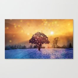 Miracle Tree in Frozen Tundra, Home Decor, Scenic Wall Art, Winter Canvas Print