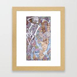 Blue Man & Dead Head Framed Art Print
