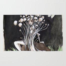 Empire of Mushrooms: Flammulina Velutipes Rug