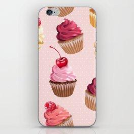 Retro Pink Cupcakes iPhone Skin