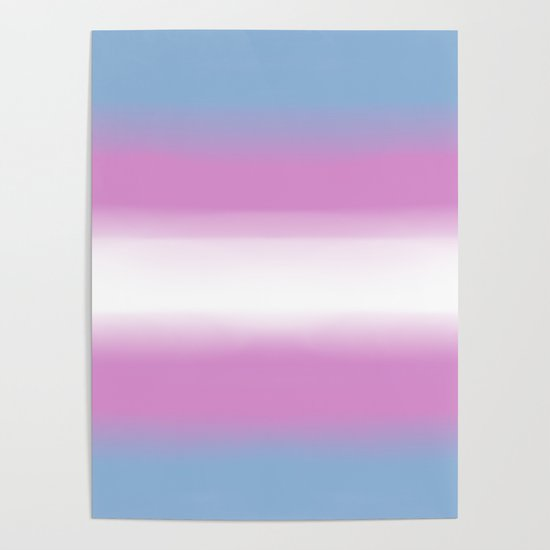 Trans Flag Poster By Moirasinclaire Society6