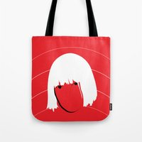 sia Tote Bags featuring Girls Like Sia  by Smudgey Paw