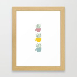 1, 2, 3 Framed Art Print