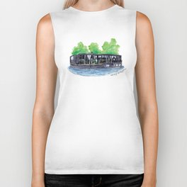 Water Living in Amsterdam by Charlotte Vallance Biker Tank