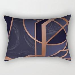 Violet Art Deco Rectangular Pillow