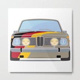 Old school car BMW with Germany flag Metal Print