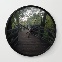 The Bridge in the Forest Wall Clock