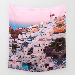 Oia town Santorini Wall Tapestry
