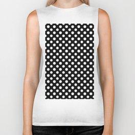 Black and White Polka Dot Pattern Biker Tank
