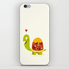 Pizza turtle iPhone & iPod Skin