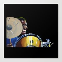 jazz Canvas Prints featuring Jazz by ink0023
