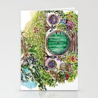 the hobbit Stationery Cards featuring Hobbit hole by Kris-Tea Books