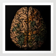 Always On My Mind - Brain Traveling Wanderlust Love Travel Art Print